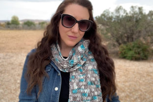Winter Chill Scarf Knit Pattern Graphic Knitting Patterns By Knit and Crochet Ever After