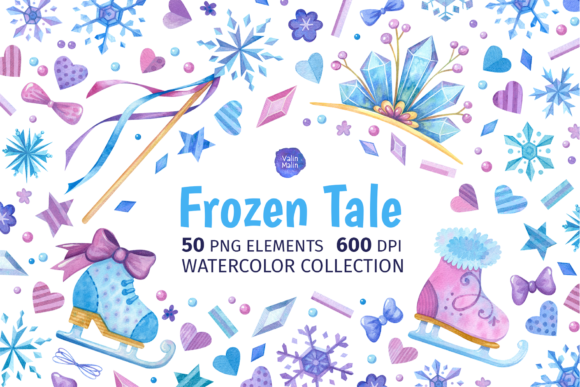 Print on Demand: Winter Girly Clipart. Frozen Clipart Graphic Objects By ValinMalin