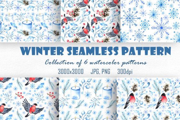 Winter Watercolor Seamless Pattern Graphic Patterns By ksenia.shuneiko