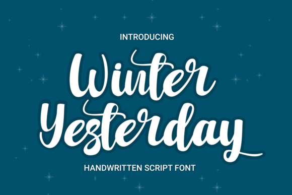 Print on Demand: Winter Yesterday Script & Handwritten Font By Rvandtype