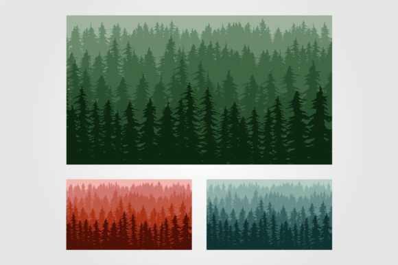 Pine Tree Forest Background Template Graphic Graphic Templates By lawoel