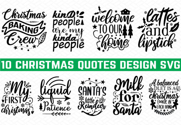 Print on Demand: 10 Christmas Design Bundle Graphic Crafts By buydesignbundles