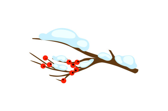 Winter Berry Branch Nature & Outdoors Craft Cut File By Creative Fabrica Crafts