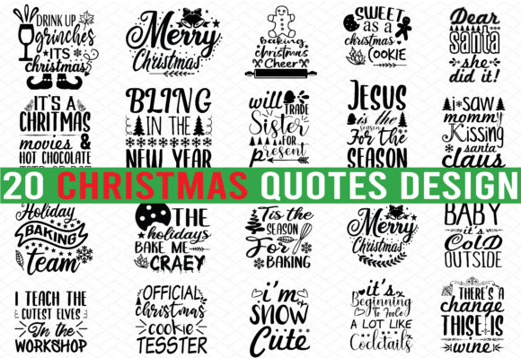 Print on Demand: 20 Christmas Design Bundle Graphic Crafts By buydesignbundles