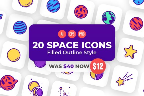 Print on Demand: 20 Space Icons  von YDNTKWIA