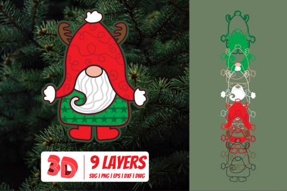 3D Christmas Gnome Graphic Crafts By SvgOcean