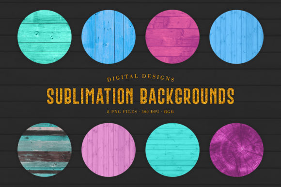Print on Demand: 8 Sublimation Wood Backgrounds Graphic Backgrounds By Sabina Leja