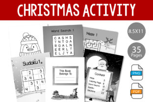 Print on Demand: Activity Book for Christmas Graphic KDP Interiors By IsaraDesign