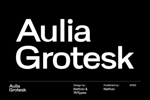 Print on Demand: Aulia Grotesk Sans Serif Font By Keithzo (7NTypes)