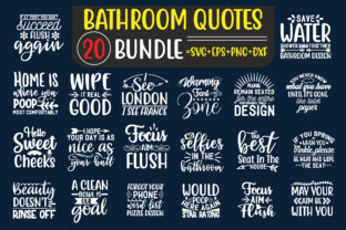 Bathroom Quotes Design Bundle Graphic Print Templates By creative store.net