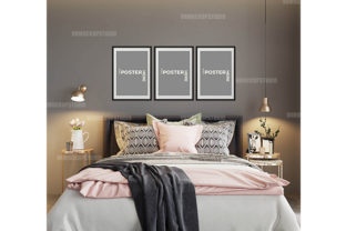 Bedroom Mockup, Poster Mockup, Mockups Graphic Product Mockups By VNMockupStudio