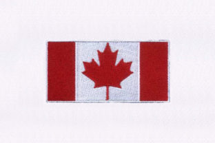 Bordered Canada Flag Design Independence Day Embroidery Design By DigitEMB