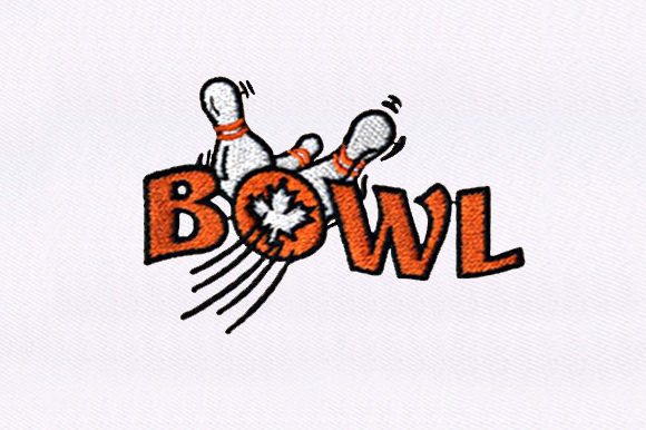 Bowling Team Sports Embroidery Design By DigitEMB