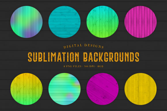 Print on Demand: Bright Sublimation Wood Backgrounds Graphic Backgrounds By Sabina Leja