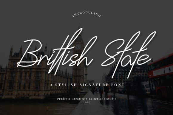 Print on Demand: Brittish State Script & Handwritten Font By pradiptacreative