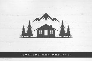 Cabin in the Woods Icon Isolated Graphic Illustrations By vasyako1984