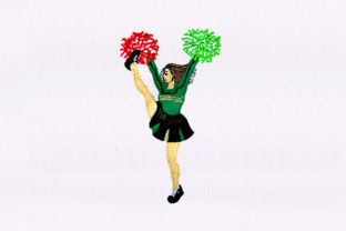 Cheerleading Girl Design Dance & Drama Embroidery Design By DigitEMB