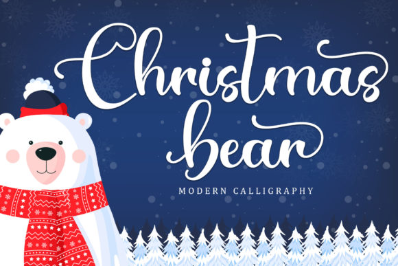 Print on Demand: Christmas Bear Script & Handwritten Font By Sakha Design