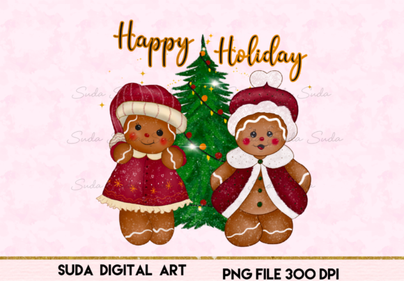 Print on Demand: Christmas Cute Cookie Sublimation Graphic Illustrations By Suda Digital Art