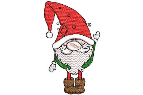 Christmas Gnome Christmas Embroidery Design By BabyNucci Embroidery Designs