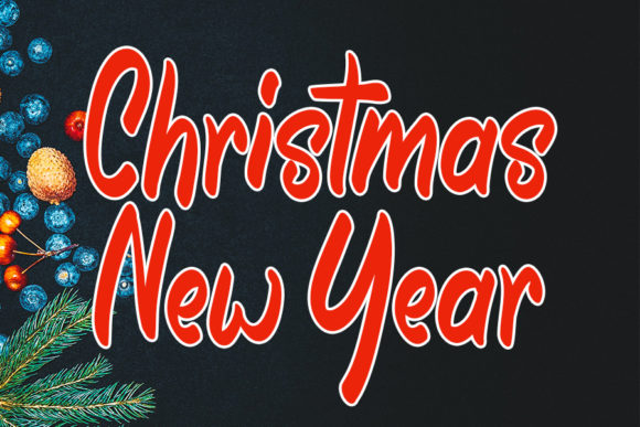 Print on Demand: Christmas New Year Script & Handwritten Font By FL Space