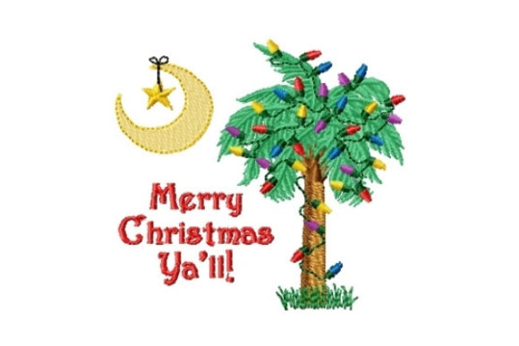Christmas Palmetto Christmas Embroidery Design By Sew Terific Designs