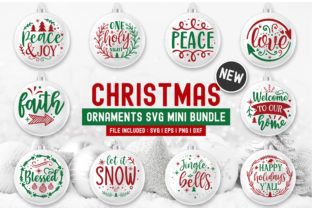 Christmas Round Bundle Graphic Print Templates By Craftingstudio