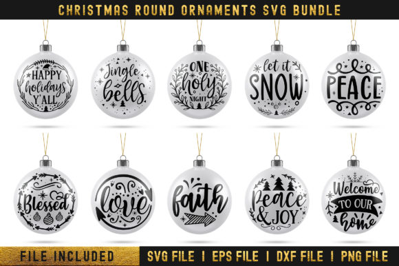 Christmas Round Bundle Graphic Print Templates By Actionzone