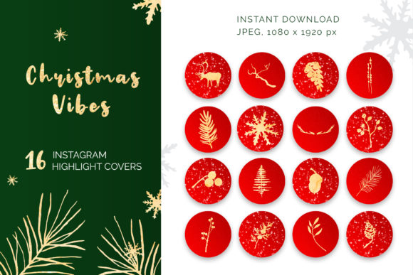 Christmas Vibes Instagram Highlights Graphic Icons By pavlova.j91