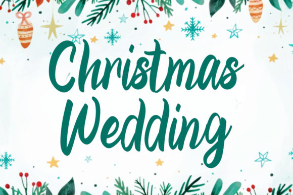 Print on Demand: Christmas Wedding Script & Handwritten Font By Inermedia STUDIO