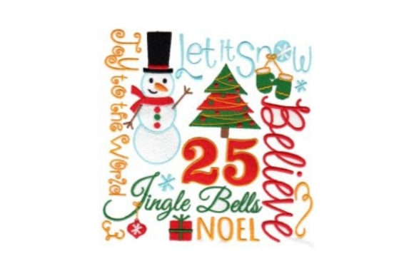 Christmas Word Art Christmas Embroidery Design By Sew Terific Designs