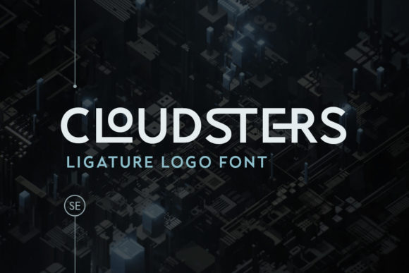 Print on Demand: Cloudsters Display Font By saridezra