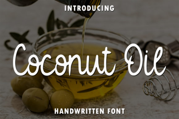Print on Demand: Coconut Oil Script & Handwritten Font By rangkaiaksara