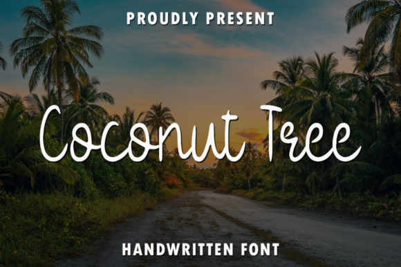 Print on Demand: Coconut Tree Script & Handwritten Font By rangkaiaksara