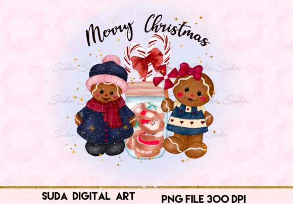 Print on Demand: Cookie Christmas Sublimation Design Graphic Illustrations By Suda Digital Art