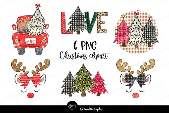 Cute Christmas Sublimation. Graphic Illustrations By CatAndMe