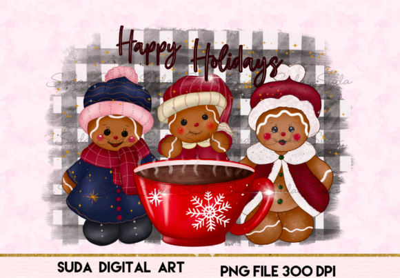Print on Demand: Cute Cookie Christmas Design Sublimation Graphic Illustrations By Suda Digital Art