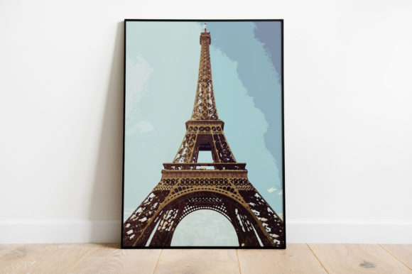 Print on Demand: Eiffel Tower Watercolor Graphic Illustrations By Silenic.co