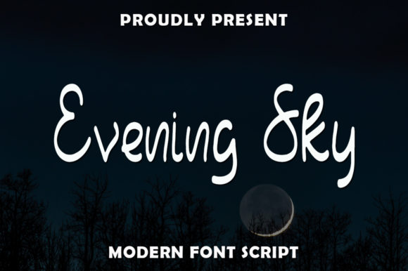 Print on Demand: Evening Sky Script & Handwritten Font By rangkaiaksara