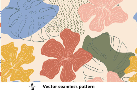 Print on Demand: Exotic Floral Seamless Pattern Graphic Patterns By northseastudio