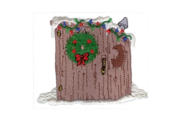 Festive Outhouse Christmas Embroidery Design By Sew Terific Designs