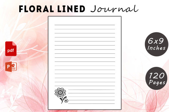 Floral Lined Journal Graphic KDP Interiors By KDP Successor
