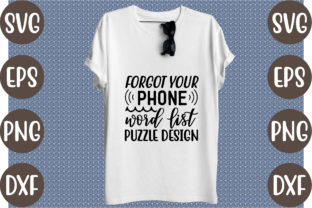 Forgot Your Phone Word List Puzzle Design Graphic Print Templates By creative store.net