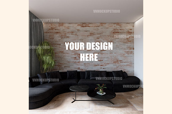 Free Interior Mockup Graphic Product Mockups By VNMockupStudio