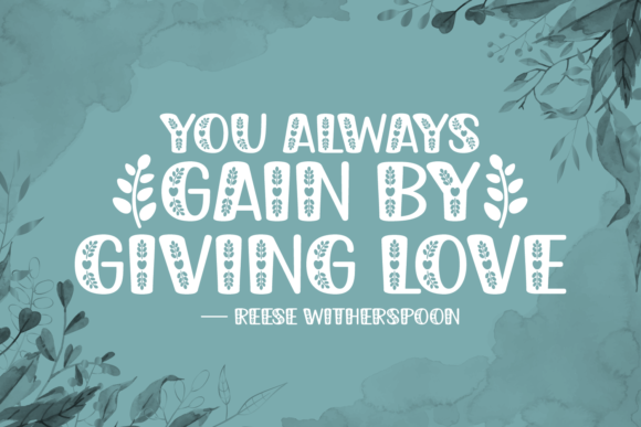 Gain by Giving Font Download
