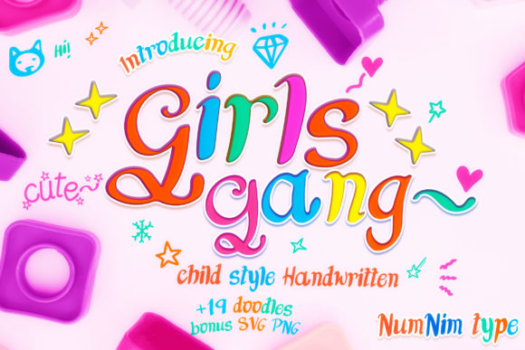 Print on Demand: Girls Gang Display Font By numnim