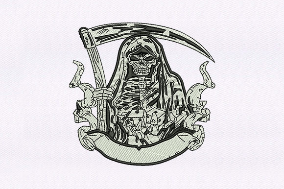 Grim Reaper Halloween Embroidery Design By DigitEMB