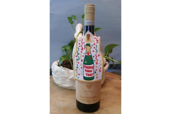 Happy New Year Bottle Dress Christmas Embroidery Design By BabyNucci Embroidery Designs