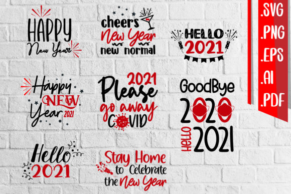 Happy New Year New Normal Svg Ai Eps Png Graphic Crafts By assalwaassalwa