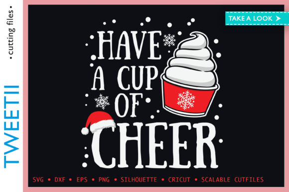 Print on Demand: Have a Cup of Cheer Christmas Cake Graphic Crafts By Tweetii